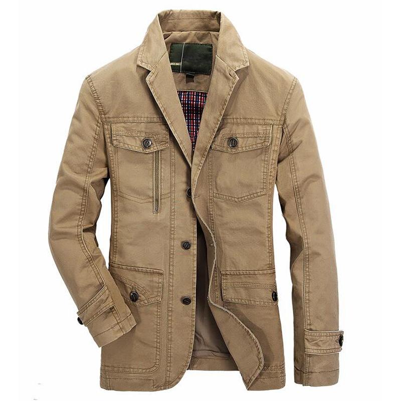 [해외]남성 면화 캐주얼 블레이저 브랜드 밀리터리 재킷 블레이저 남성 봄 가을 정장 코트 남성 재킷 casaco masculino 재킷을 씻어/Men washed cotton casual blazer brand military jacket blazers mens spr