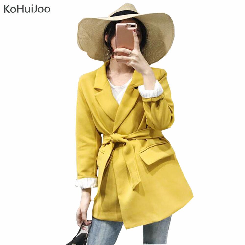 [해외]KoHuiJoo 봄 가을 한국 캐주얼 블레이저 여성 플러스 사이즈 루즈 한 슬림 피트 블레이져 자켓 샐리 레이디스 코트 아웃웨어/KoHuiJoo Spring Autumn Korean Casual Blazers Women Plus Size Loose Slim Fi