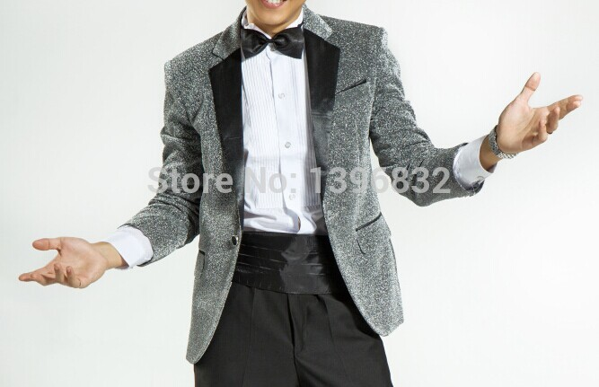반짝이 원단 실버 그레이 재킷 중세 빈티지 턱시도 재킷 망/Free shipping mens glitter fabric silver grey jacket medieval vintage tuxedo jacket
