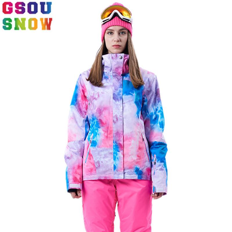 [해외]Gsou Snow 겨울 방수 스키 자켓 여성 스노우 보드 자켓 싸구려 스키 정장 야외 스키 스노우 보드 캠핑 스포츠 의류/Gsou Snow Winter Waterproof Ski Jacket Women Snowboard Jacket Cheap Ski Suit O