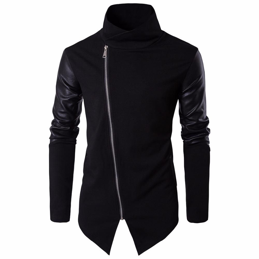 [해외]2017 하이 스트리트 유럽 거리 사이드 지퍼 자켓 힙합 정장 풀오버 겨울 자켓 남성 코트 캐주얼 자켓 켓/2017 High street Europe street Side zipper Jacket Hip Hop Suit Pullover Winter Jacket