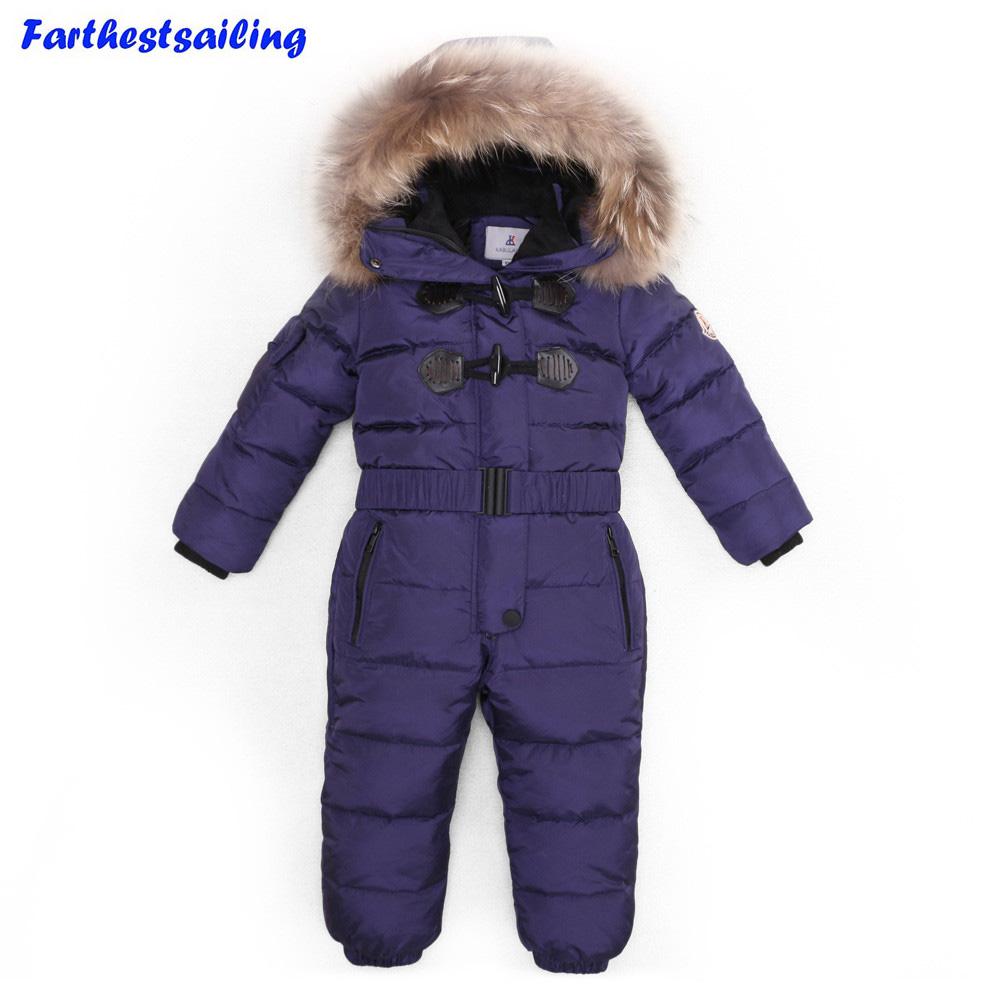 [해외]-30 학위 겨울 어린이 점프 슈트 여자 옷에 대 한 자 켓 소년 겉옷 코트 두꺼운 방수 Snowsuits 아이 스키 정장/-30 Degree Winter Children Jumpsuit Down Jacket For Girl clothes  Boy Outerwe