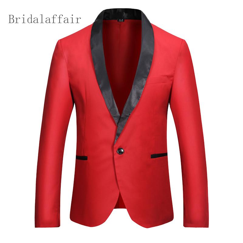 [해외]2018 사용자 정의 레드 블레 이저 남자 결혼식 연회 저녁 식사 자 켓 남자 코트 턱시도 양복 블레 이저 연회 비즈니스 슬림 맞는 하나의 단추 양복/2018 Custom Red Blazer Men Wedding Prom Dinner Jacket Men Coat
