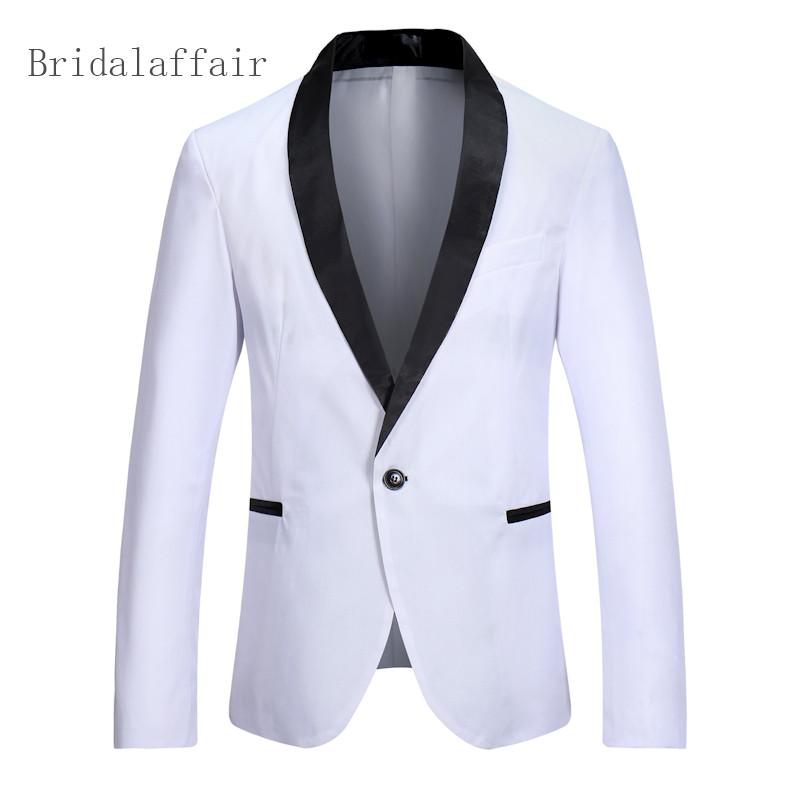 [해외]사용자 정의 블레 이저 남자 웨딩 댄스 파티 자켓 화이트 남자 코트 턱시도 웨딩 블레 이저 디너 연회 비즈니스 슬림 맞는 2018/Custom Made Blazer Men Wedding Prom Dinner Jacket White Men Coat Tuxedo S