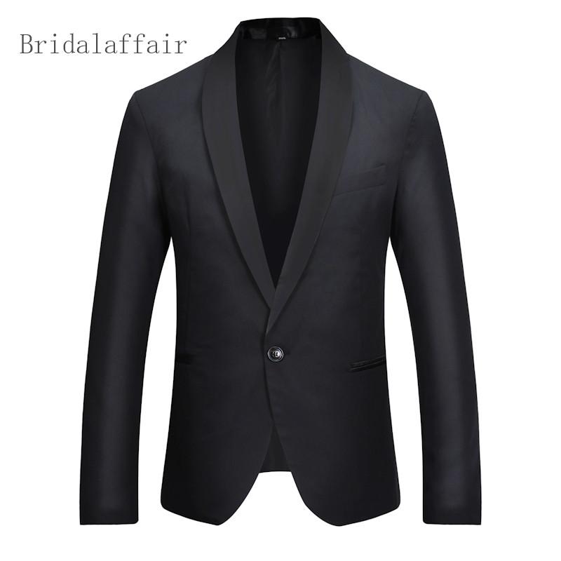 [해외]2018 사용자 정의 블랙 블레이저 남자 결혼식 무도회 저녁 식사 남자 공식 코트 턱시도 정장 연회 비즈니스 슬림 맞는 정장 재킷/2018 Custom Black Blazer Men Wedding Prom Dinner Men Formal Coat Tuxedo S