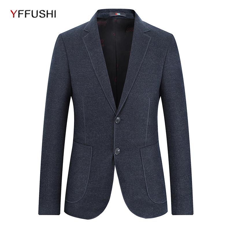 [해외]YFFUSHI 2018 새로운 패션 남성 정장 JacketPockets 다크 그레이 자켓 Masculino 비즈니스 캐주얼 스타일 의상 남성 정장 Blazer/YFFUSHI 2018 New Fashion Men Suit JacketPockets Dark Gray