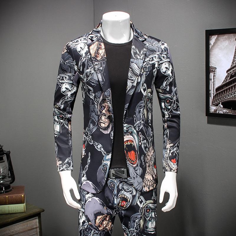 [해외]2018 남자 & 캐주얼 슬림 피트 원 버튼 정장 재킷 블레이 저 신랑 웨딩 정장 무도회 복장 남자 복장 M-4XL 871/2018 Men&s Casual Slim Fit One Button Suit Jackets Blazer Bridegroom Wedd