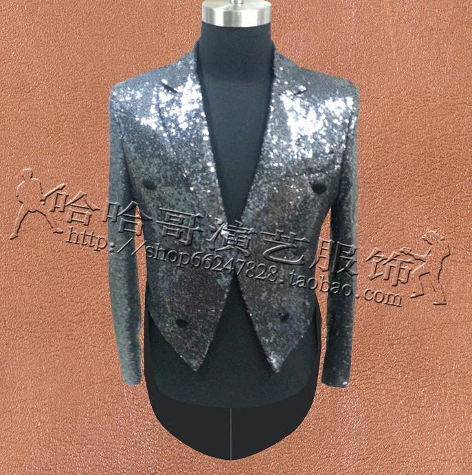 [해외]스팽글 옷 남성 턱시도 정장 디자인 masculino homme terno 무대 가수 맞춤 재킷 망 블레이저 댄스 스타 스타일/Sequins clothes men Tuxedo suits designs masculino homme terno stage singer