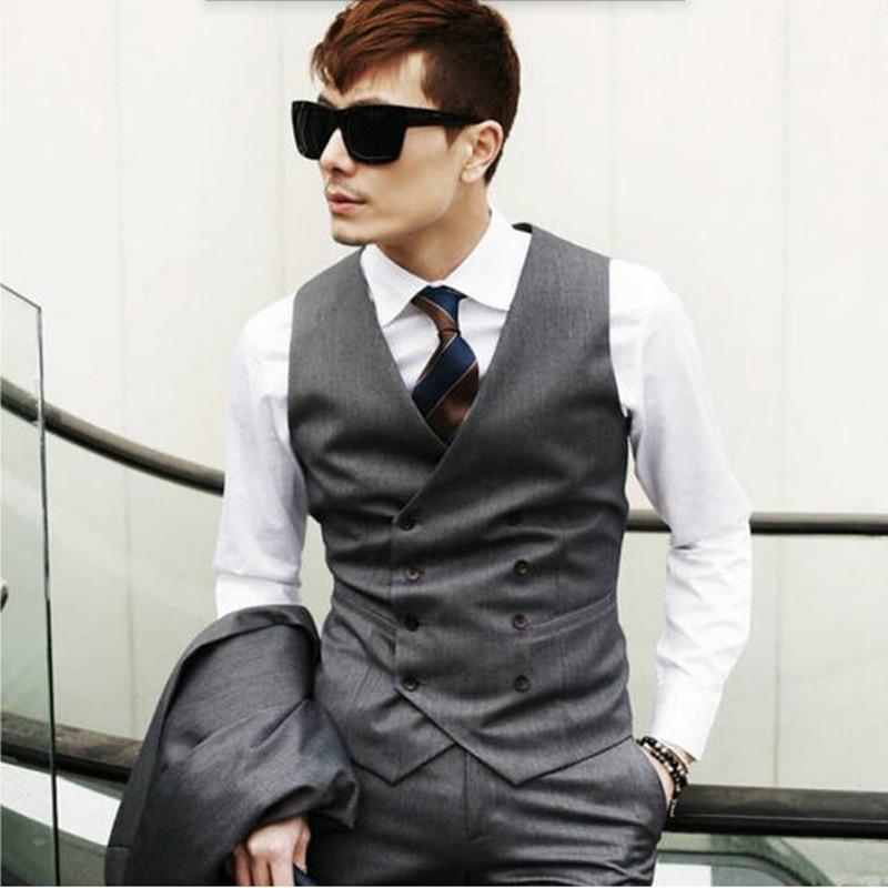 [해외]남성 정장 조끼 패션 캐주얼 영국 스타일 잘 생긴 남성 정장 조끼 남성 정의 만든 더블 브레스트 조끼 망 남성용 양복 조끼/mens suit vest fashion casual british style handsome male suit vest male cust