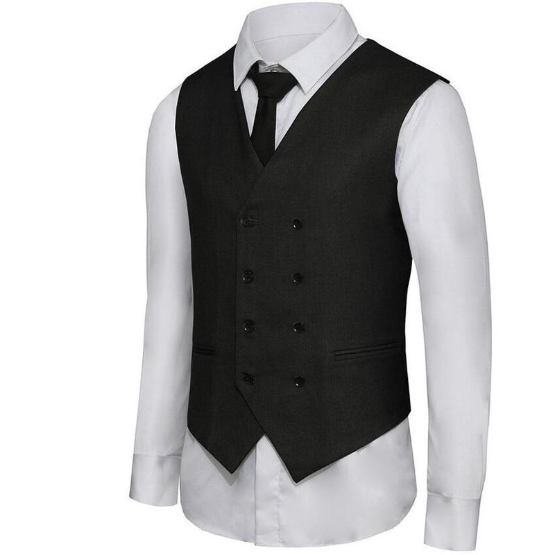 [해외]2017 한정판 새로운 Broadcloth 코튼 조끼 양복 조끼 남자 & s 더블 브레스트 레저 비즈니스 조끼 사용자 정의 회색 더블 브레스트/2017 Limited New Broadcloth Cotton Vests Suit Waistcoat Men&s