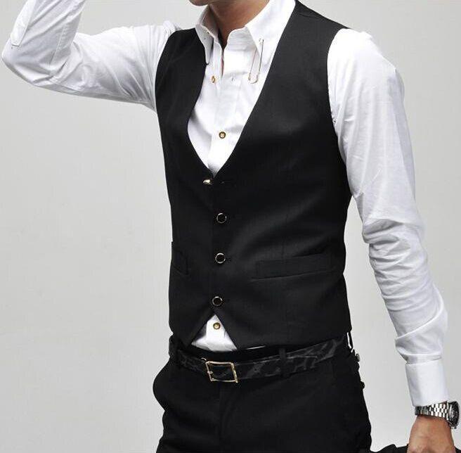 [해외]2017 남자 정장 조끼 슬림 드레스 조끼 남자 & s 장착 된 레저 조끼 캐주얼 비즈니스 재킷 탑 버튼 4 개/2017  New Arrival Men Suit Vest Slim Dress Vests Men&s Fitted Leisure Waistcoat