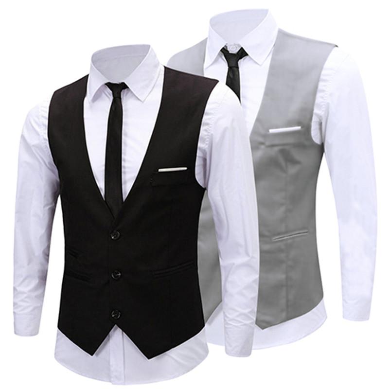 [해외]2017 조끼 Chaleco Hombre 남자 정장 조끼 남자 & 의복 영국 스타일 슬림 Colete 더블 브레스트 민Retail 자켓 조끼/2017 Vests Chaleco Hombre Men Suit Vest Men&s Clothing British
