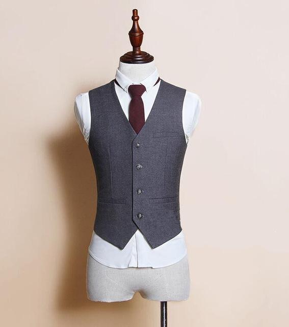 [해외]남자 조끼 정장 Waistcoats 블레이져 자켓 남자 & 캐주얼 패션 슬림 피트 민Retail 비즈니스 정장 조끼/Men Vest Suit Waistcoats Blazers Jackets Men&s Casual Fashion Slim Fit Sleeve