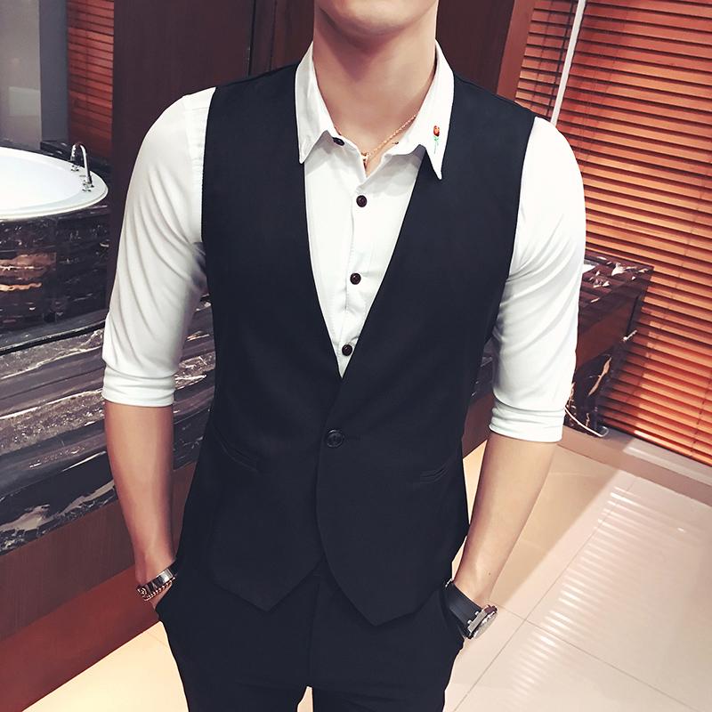 [해외]2017 여름 남자 & 고전적인 비즈니스 정장 조끼 남자 & s 결혼식 연회 신사 높은 학년 양복 ves/2017 summer men&s classic business suit vest men&s wedding banquet gentleman hi