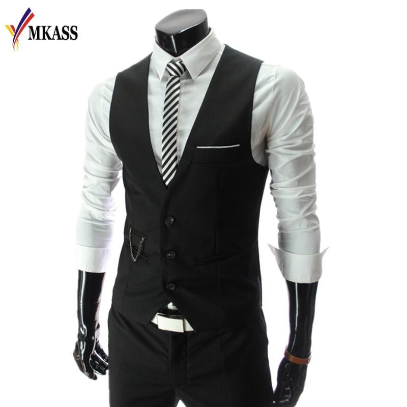 [해외]패션 2017 남자 정장 조끼 남자 & s 장착 된 레저 조끼 캐주얼 비즈니스 조끼 탑스 3 버튼 4 색 M-4XL/Fashion 2017 New Arrival Men Suit Vests Men&s Fitted Leisure Waistcoat Casual