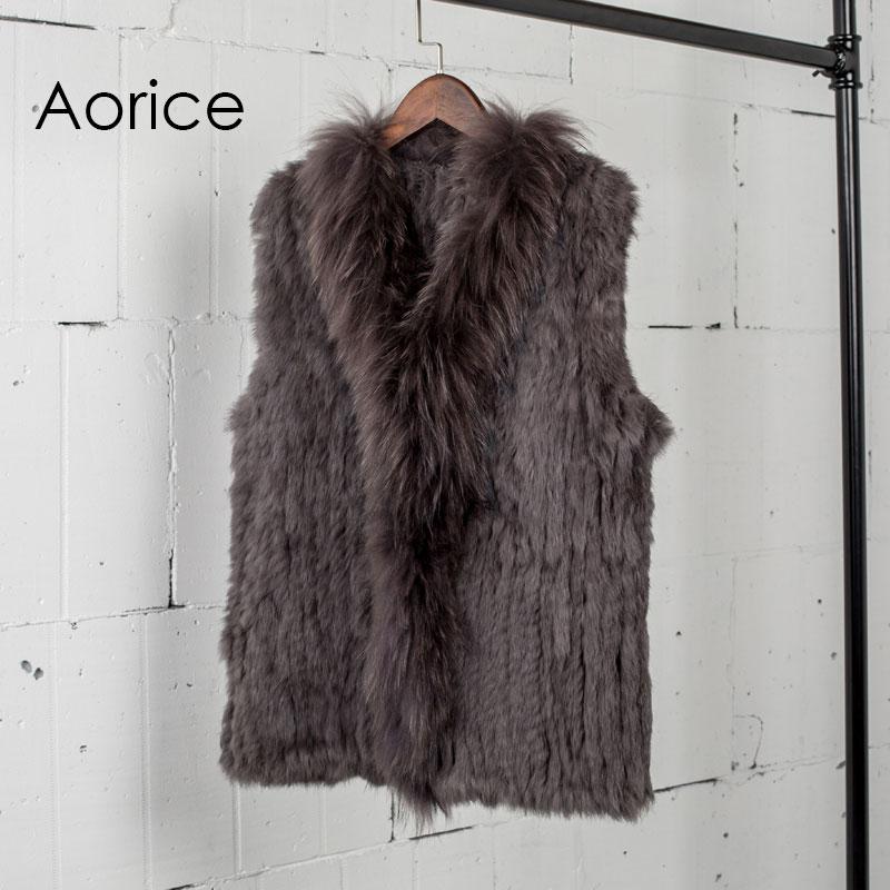 [해외]VT7008  우송 자연의 진짜 토끼 모피 조끼 너구리 모피 칼라 조끼 / 재킷 토끼 니트 겨울/VT7008 Free shipping womens natural real  rabbit fur vest raccoon fur collar  waistcoat/jack