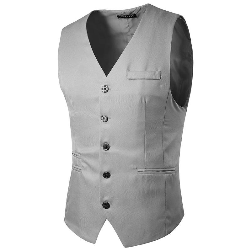[해외]2017 슬림 피트 한국 패션 최고의 남자 신사 정장 조끼 신랑 턱시도 댄스 파티 조끼 웨딩 드레스 레드 화이트 카키 그레이/2017 slim fit Korean fashion Best men gentleman suit waistcoat Groom Tuxedos