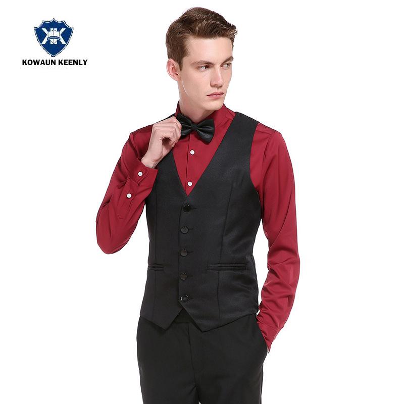 [해외]2017 슬림 맞는 망 쳐 조끼 드레스 남자 조끼에 대 한 검은 조끼 Gilet 옴 캐주얼 민Retail 공식적인 비즈니스 콜/2017 Slim Fit Mens Suit Vest Dress Black Vests For MenMale Waistcoat Gilet