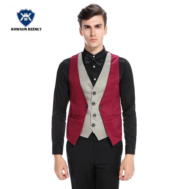 [해외]5 솔리드 컬러 정장 정장 조끼 빈티지 슬림 피트 망 남성 정장 캐주얼 정장 의상 비즈니스 정장 조끼/5 Solid Color Suit Formal Vest for Men Vintage Slim Fit Mens Waistcoat Sleeveless Casual
