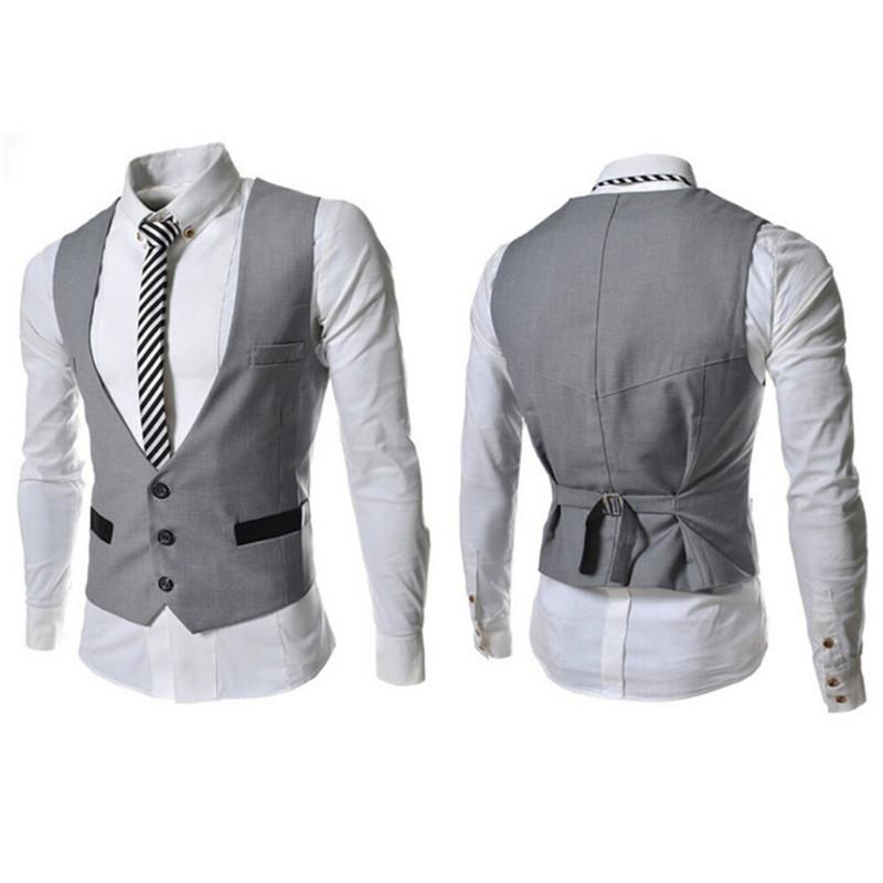 [해외]새로운 디자인 정장 비즈니스 양복 조끼 남자 조끼 파티 웨딩 남자 정장 조끼 V 넥 싱글 브레스트 조끼/New Design Formal Business Waistcoat Men Vests  Party Wedding Men Suit Vests V-neck Sing