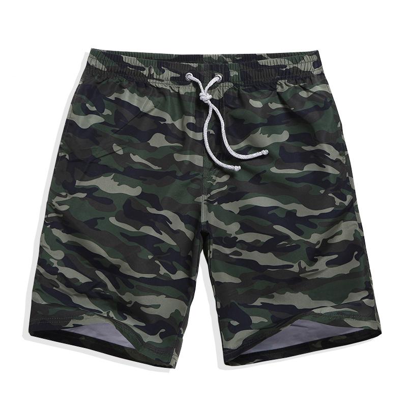 [해외]여름 반바지 빠른 건조 위장 색 보드 반바지 QIKE 브랜드 캐주얼 비치 남성 레이스 업 스트레칭 허리 반바지 남성/Summer shorts quick-dry camouflage color board shorts QIKE brand casual beach men
