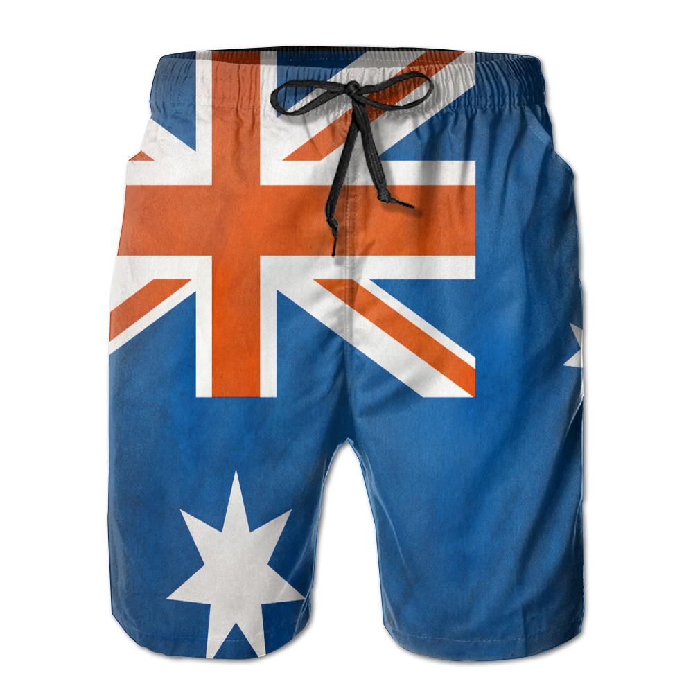 [해외]mens 땀 흡수 빠른 건조 초경량 통기성 호주 AUS 플래그 반바지 gmy 반바지 비치 반바지/mens perspiration quick dry ultra-light breathable Australia AUS Flag shorts gmy shorts beac