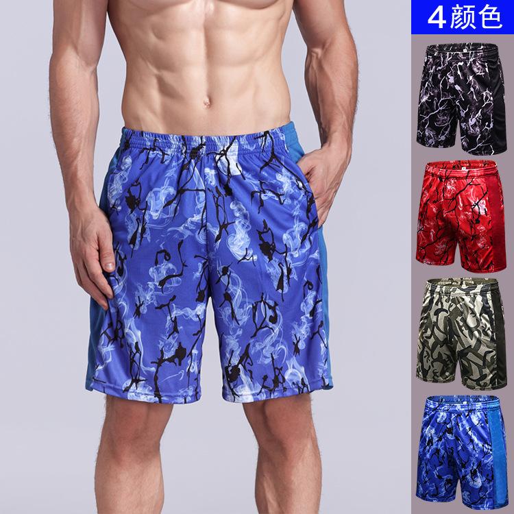 [해외]남자 PRO 피트 니스 실행 느슨한 인쇄 반바지 탄성 통풍 빠른 드라이 스포츠 반바지 7016 실행/Man PRO Fitness Running Loose Printed Shorts Elastic Breathable Quick Dry Sport Shorts 701