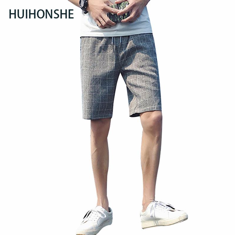 [해외]반바지 남성 여름 패션 격자 무늬 망 보드 반바지 코튼 슬림 버뮤다 Masculina 비치 반바지 클래식 무릎 길이 반바지/Shorts Men Summer Fashion Plaid Mens Board Shorts Cotton Slim Bermuda Masculi
