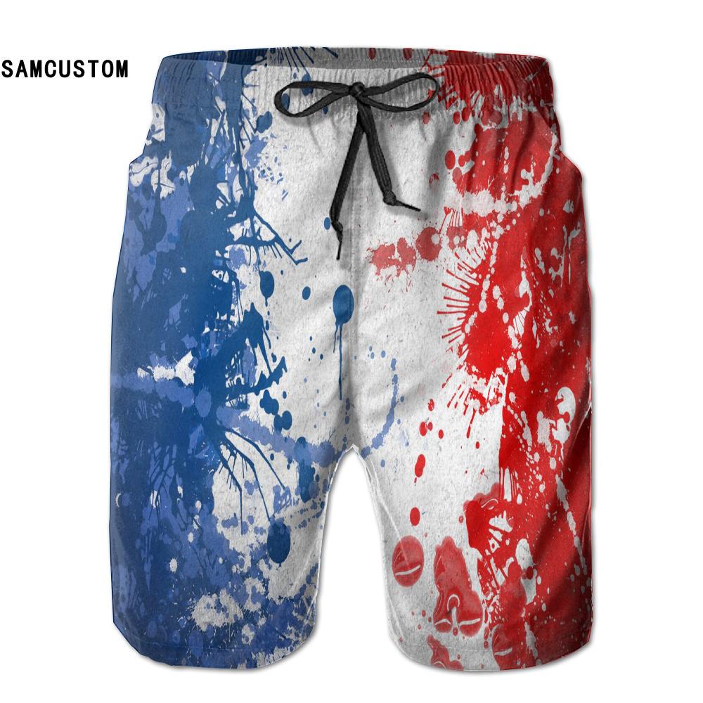 [해외]SAMCUSTOM mens 땀 흡수 속건 초경량 통기성 FRA 프랑스 국기 반바지 gmy 반바지 비치 반바지/SAMCUSTOM mens perspiration quick dry ultra-light breathable FRA France Flag shorts g
