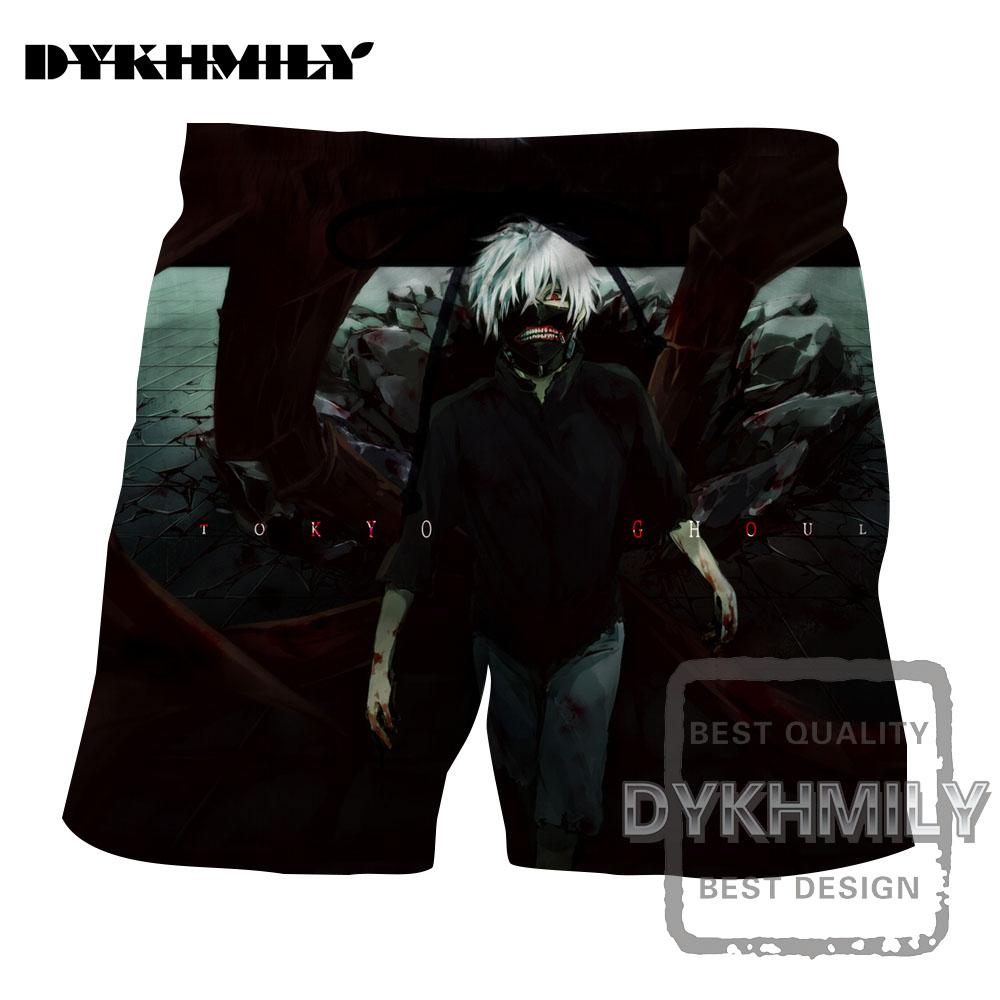 [해외]Dykhmily 2017 여름 새로운 디자인 도쿄 구루 3D 인쇄 남자 비치 반바지 재미 통기성 Sportwear 짧은 바지 Streetwear 차가운/Dykhmily 2017 Summer New Design Tokyo Ghoul 3d Print Men Beac