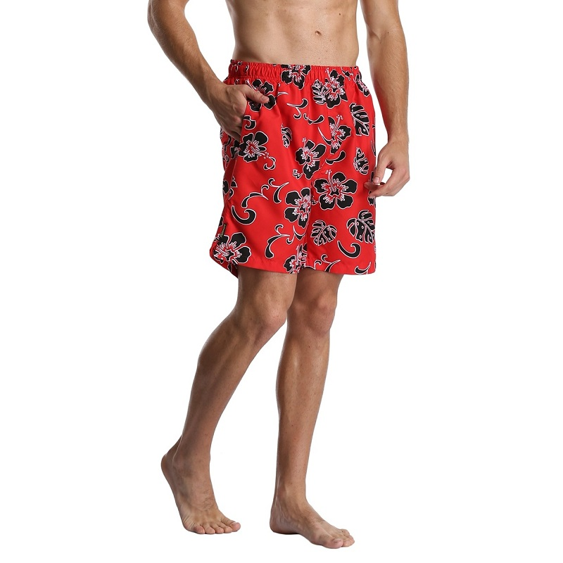 [해외]FE DIE 남성용 비치 반바지 플러스 사이즈 루즈 한 캐주얼 하와이 플로랄 프린트 보드 반바지 포켓 빠른 건조 보드 반바지/FE DIE Men&s Beach Shorts Plus Size Loose Casual Hawaii Floral Printed Board