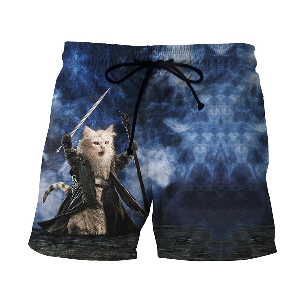 [해외]파이팅 갤럭시 고양이 3D 보드 짧은 남자 휘트니스 잠옷 패션 수영복 캐주얼 망 비치 쇼트 짧은 잠/Fighting Galaxy Cat 3D Board Short Men Fitness  Sleepwear Fashion Swimwear Swimsuit Casual