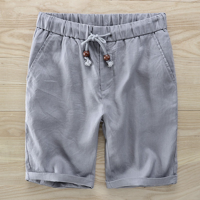[해외]2018 여름 새 단장 남성 브랜드 캐주얼 비치 반바지 레티나 단단한 편안한 부드러운 보드 짧은 남성 버뮤다 masculina 38size/2018 Summer new linen shorts men brand casual beach Shorts mens soli
