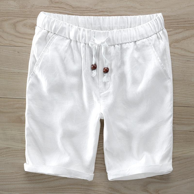 [해외]이탈리아 브랜드 브랜드 린넨 반바지 남성 캐주얼 패션 반바지 레티나 통기성 100 % 플록 보드 짧은 남성 느슨한 버뮤다 38 사이즈/Italy style brand linen shorts men casual fashion beach Shorts mens bre