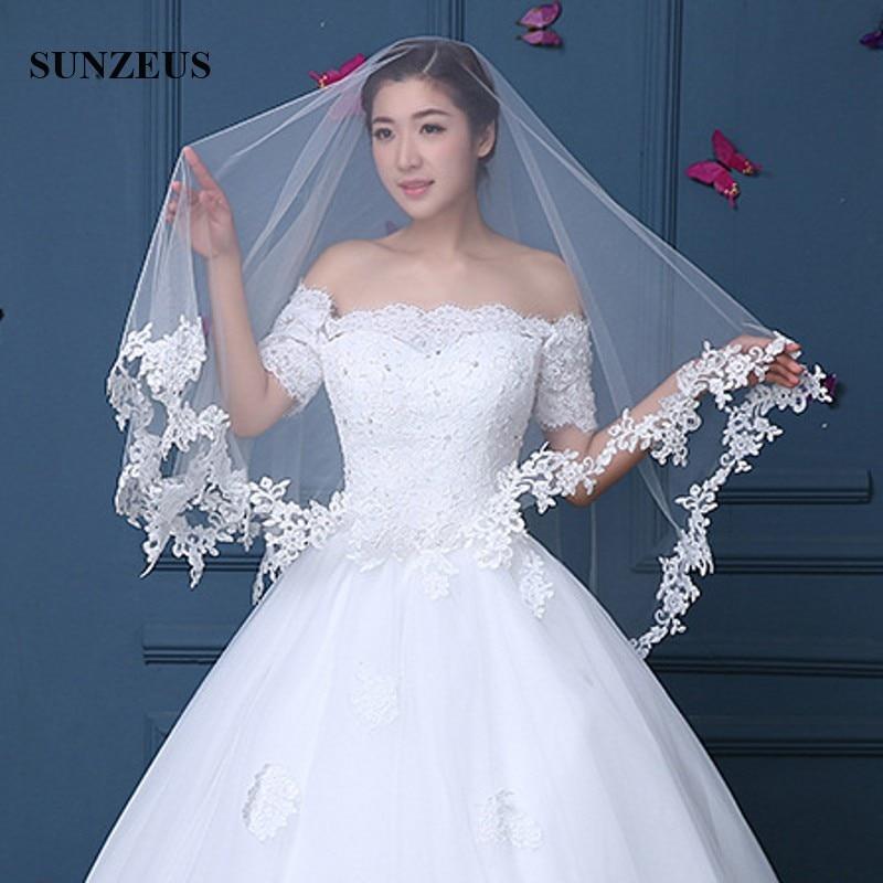 [해외]아플리케 모서리 원 레이어 웨딩 베일 롱 아이보리 성인용 액세서리 여성용 웨딩 쥬얼리 WV062/Applique Edge One Layer Wedding Veil Long Ivory Adult Acessories For Women Bridal Veils acce