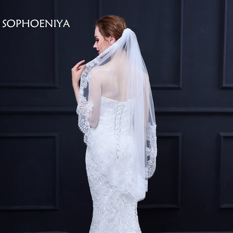 [해외]New Arrival voile Ivory Bridal veil schleier voile mariage Sexy wedding veils wedding accessories welon long veil velo sposa/New Arrival voile Ivo