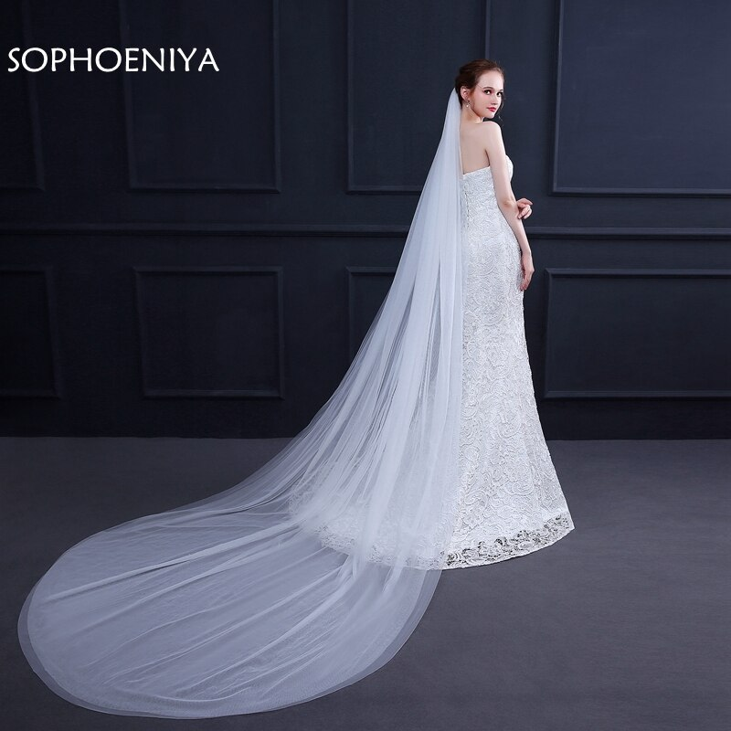 [해외]New Arrival 3 Meter Wedding veil welon Bridal veil Sexy Cheap wedding veil wedding accessories voile mariage velos schleier/New Arrival 3 Meter We