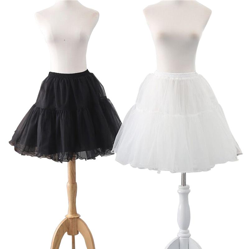 여름 새로운 2 층 숙녀 캐주얼 짧은 치마 패션 pleated 치마 crinoline 페티코트 투투 웨딩 댄스 파티 의상 스커트