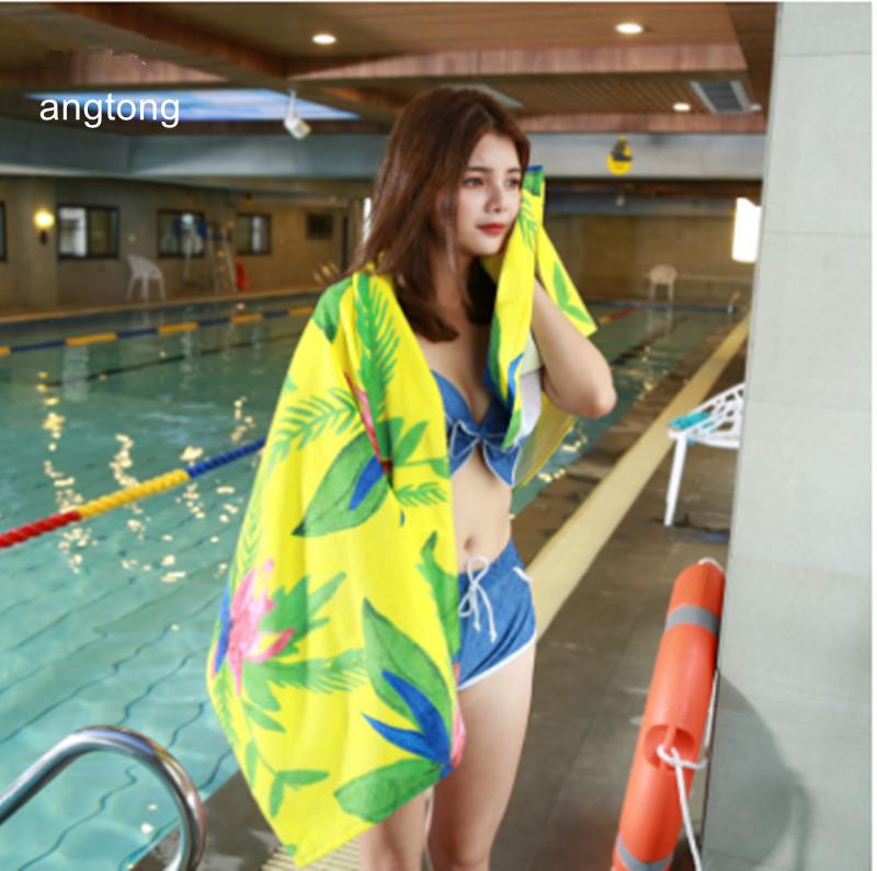 [해외]1PC 140X70cm100 % 코 튼 비치 타월 유럽 디자인 노란색 bottompeony 인쇄 부드러운 짙은 목욕 타월 CR-T56A/1PC 140X70cm100% cotton beach towel European design yellow bottompeony