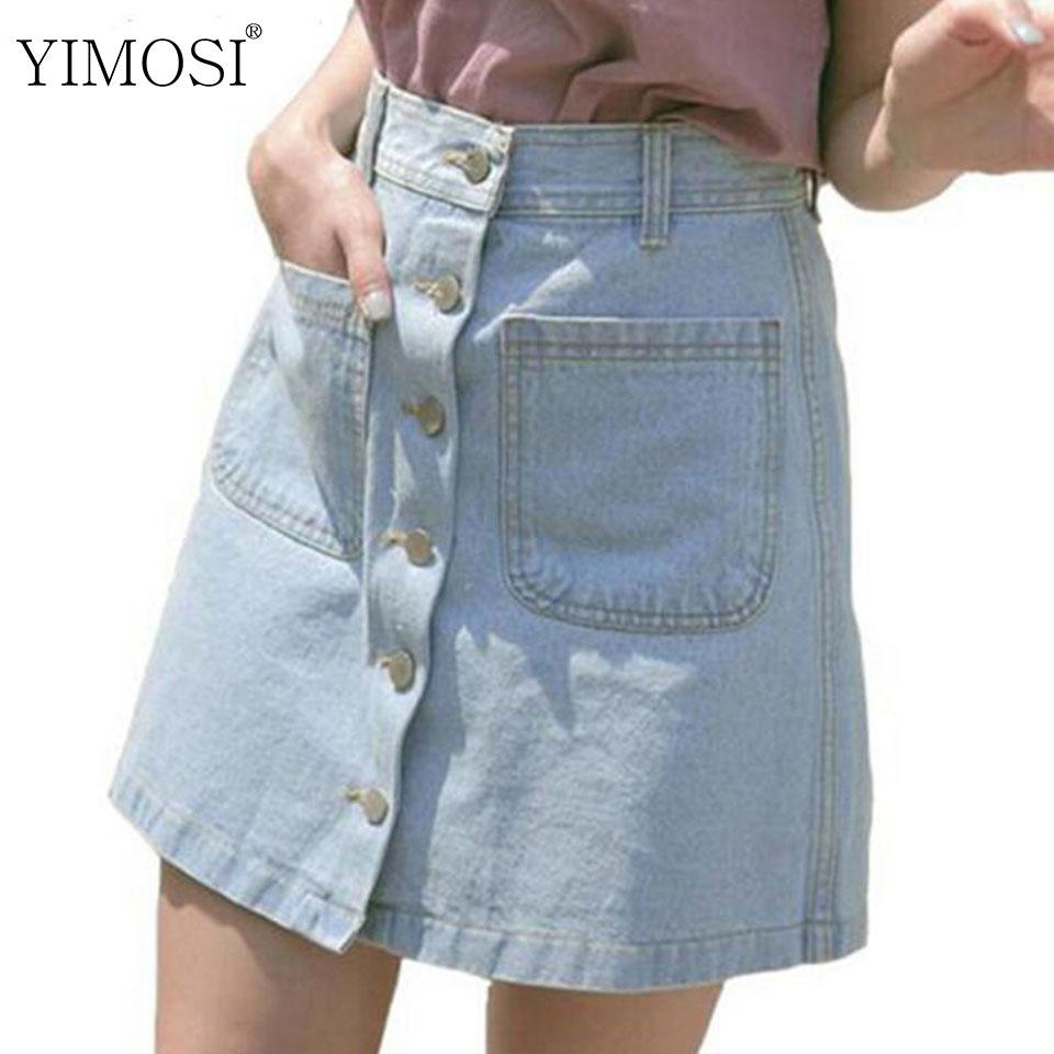 [해외]2018 새로운 여성 여름 데님 스커트 숙녀 패션 하이 웨스트 스커트 여성 미니 청바지 스커트 Cheap Skirts Bottomes/2018 New Women Summer Denim Skirts Ladies Fashion High Waist Skirts Fem
