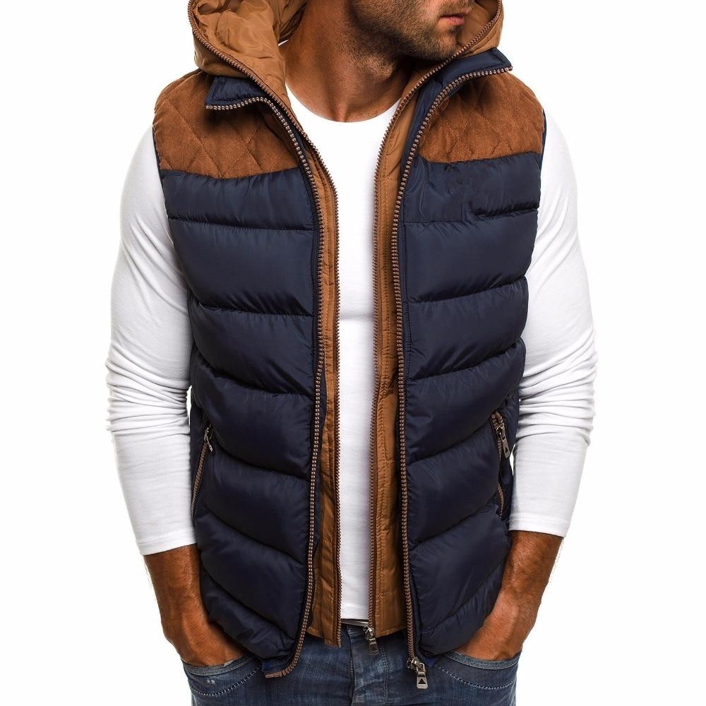 [해외]ZOGAA Winter Coat Vest Men Warm Sleeveless Jacket Casual Waistcoat Cotton Vest Hooded Coat 5xl 4xlSize Duck Down Jacket Men Vest/ZOGAA Winter Coat