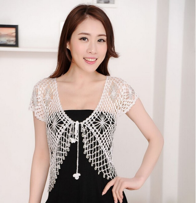 [해외]15 색 여름 여성 원근법 자수 목도리 유럽 작풍 레이스 재킷 유행 여성 짧은 Retail Blusas/15 Colors Summer Women Perspective Embroidery Shawl European Style Lace Jackets Fashion