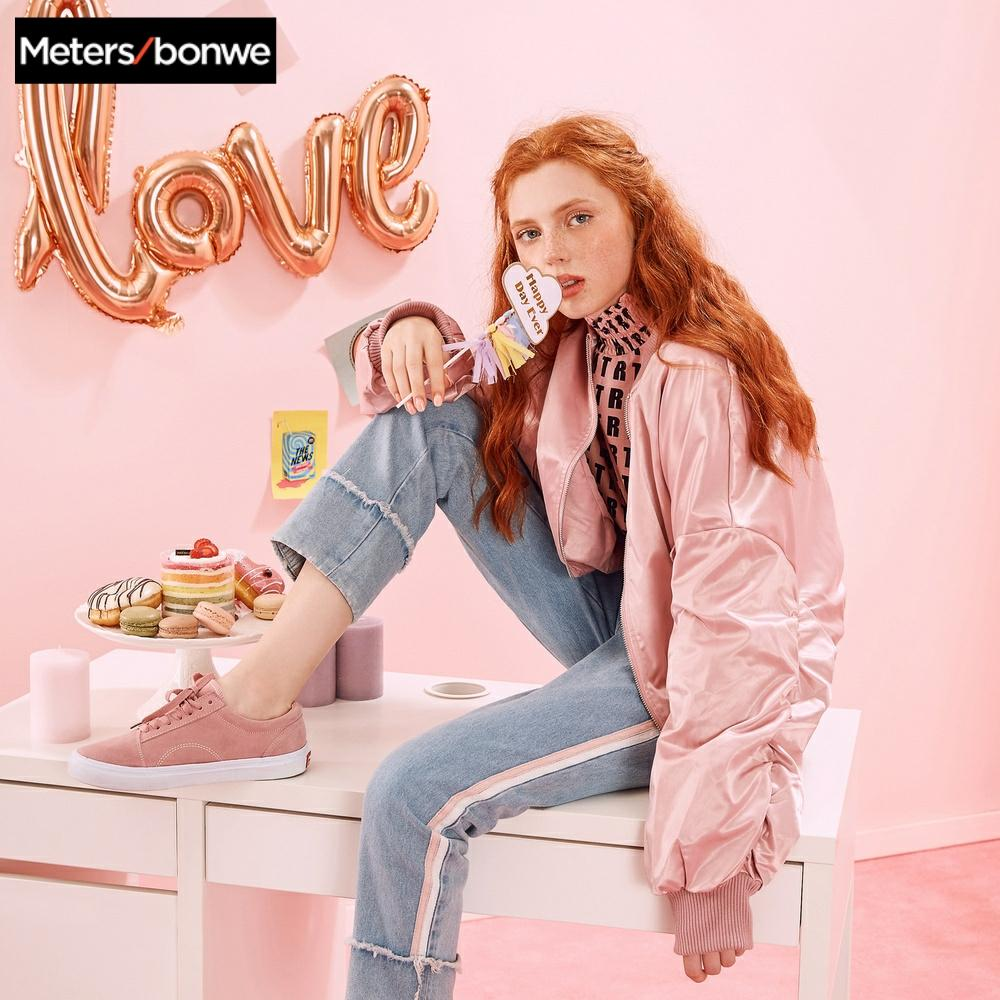 [해외]Metersbonwe brand bat-sleeved jacket womens spring wear new embroidered jacket baggy baseball suit -CC/Metersbonwe brand bat-sleeved jac