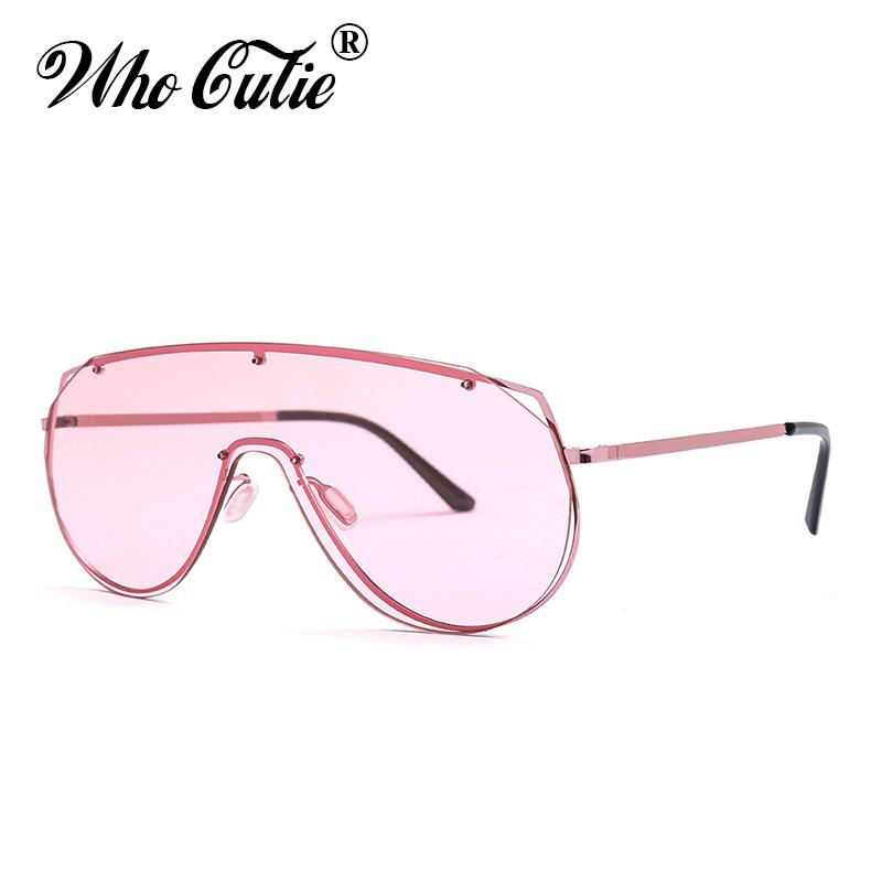 [해외]WHO CUTIE 2018 대형 선글라스 남성 여성 브랜드 디자이너 빈티지 원피스 무테 안경 색조 선글라스 쉐이드 696/WHO CUTIE 2018 Oversized Sunglasses Men Women Brand Designer Vintage One Piece