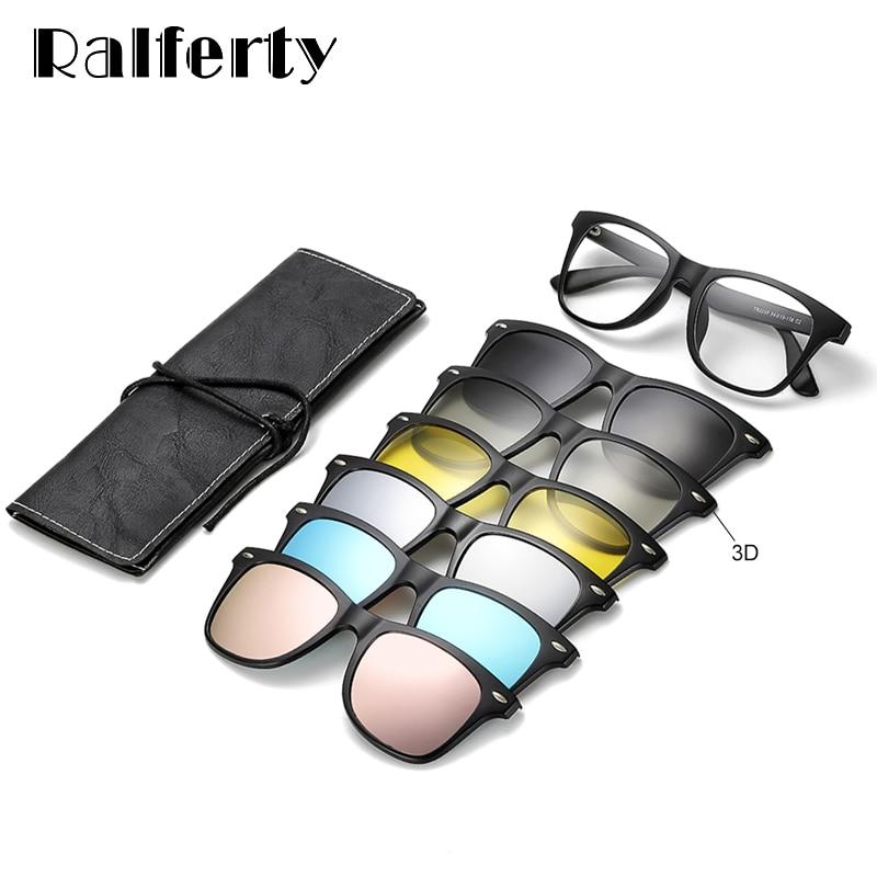 [해외]Ralferty 자기 선글라스 여성 선글래스 남자에 클립 UV400 TR90 3D 나이트 비전 처방 안경 Polarized/Ralferty Magnetic Sunglasses Women Clip On Sunglass Men Polarized UV400  TR90