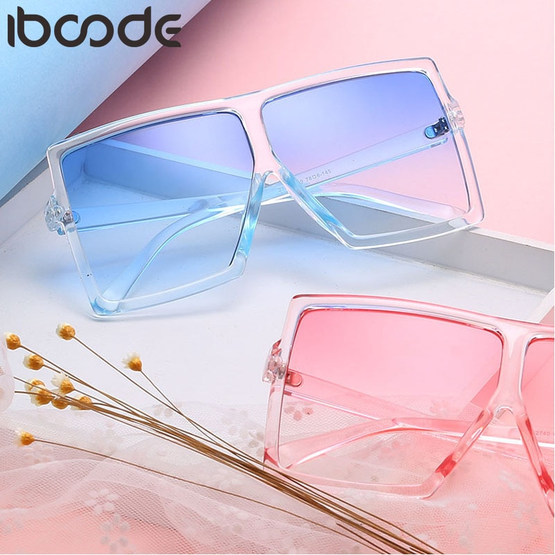 [해외]iboode New Oversized Sunglasses Women Men Retro Marine Lens Sun Glasses Travel Outdoor Shades UV400 Eyewear Oculos Gafas De Sol /iboode New Oversi