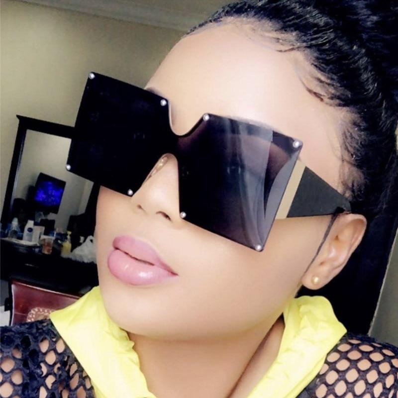 [해외]UniFashion 2019 New Ladies Square Sunglasses Women Goggle Shades Vintage Brand Designer Oversized Sun Glasses For Female Men/UniFashion 2019 New L