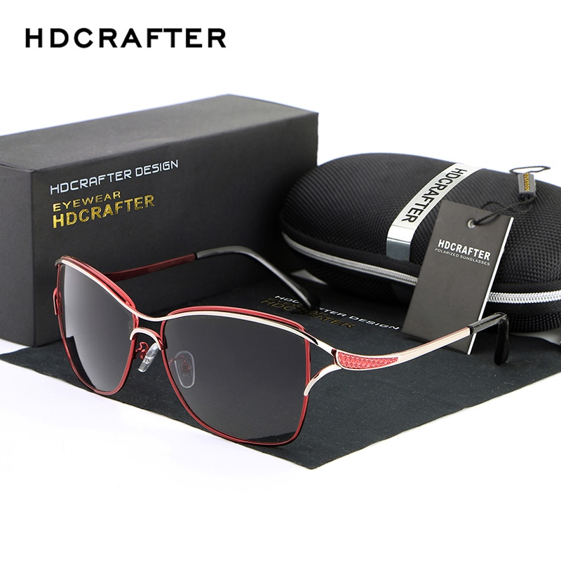 [해외]HDCRAFTER Polarized Cat Eye Sunglasses Women Fashion Style Brand Designer Driving Sun Glasses for Women Oculos De Sol Eyewear/HDCRAFTER Polarized