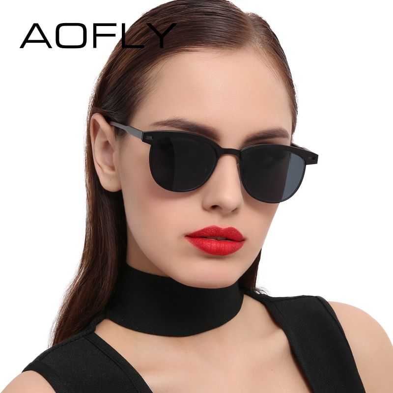 [해외]AOFLY Fashion Lady Sunglasses Metal Half Frame Sun glasses for Women Brand Designer Vintage Square Mirror Shades UV400 Gafas/AOFLY Fashion Lady Su