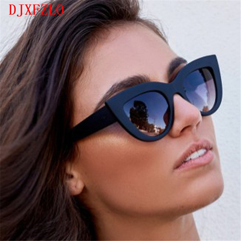 [해외]2018 New Sunglasses Retro Fashion Sunglasses Women Brand Designer Vintage Cat Eye Black Sunglasses Ladies Lady UV400 Oculos /2018 New Sunglasses R